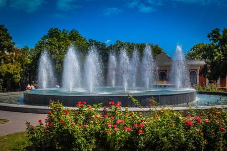 Fountain near Odessa Opera and Ballet Theater Editorial