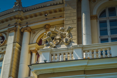 Odessa Opera & Ballet Theater with ancient statues