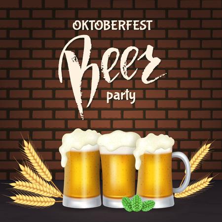 Oktoberfest party banner.