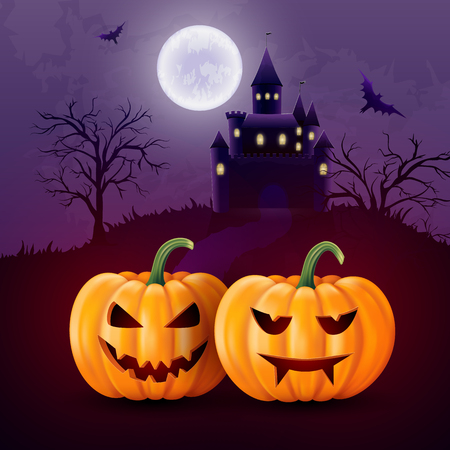 Halloween Greeting card for party and sale