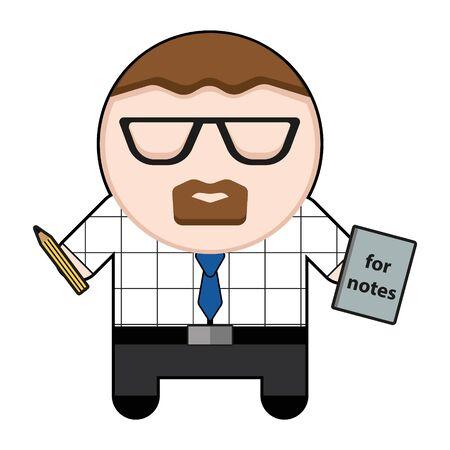 Profession character office worker illustration. Ilustração
