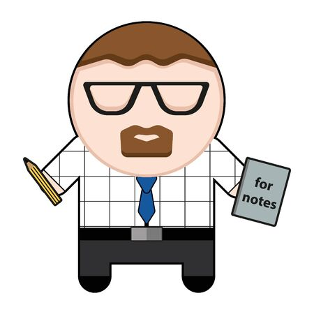 Profession character office worker illustration. Illustration