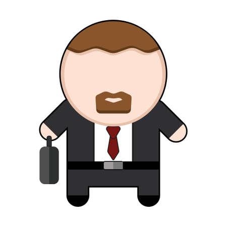 Profession character businessman illustration Ilustração