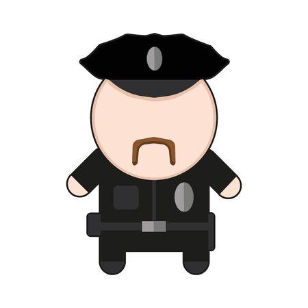 Profession character policeman illustration.