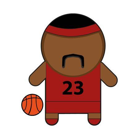 Profession character basketball player illustration Illustration