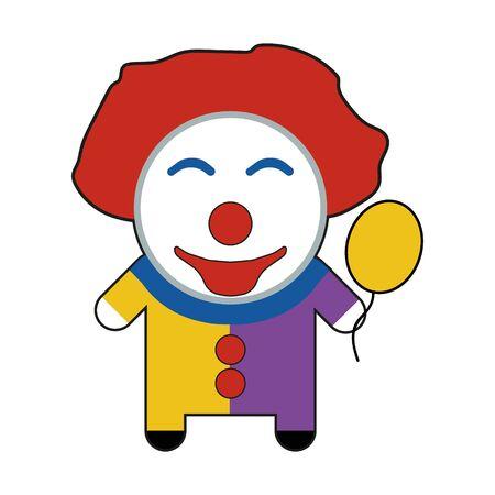 Profession character clown illustration