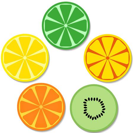 Sneetjes fruit pictogram. Stockfoto - 87063333