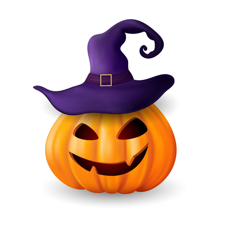 Halloween background with pumpkin. Illustration