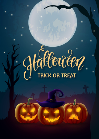 Halloween background, pumpkin. Greeting card for party and sale. Autumn holidays. Vector illustration EPS10. Illustration