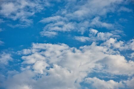 Blue sky contrasted with fluffy diamond-white cloud in one fine day and fresh air to take a fully breath ,of course.