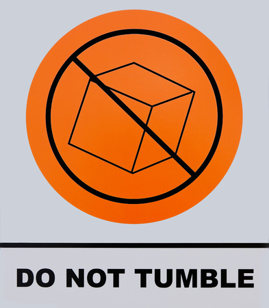 Do not tumble sign. This photo was taken from sign board, its not an illustration work.