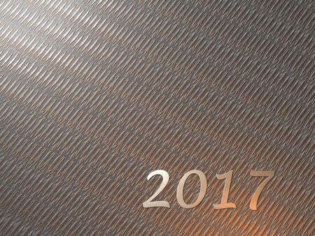 Silvery 2017 on Metal Grating Stock fotó - 79130414
