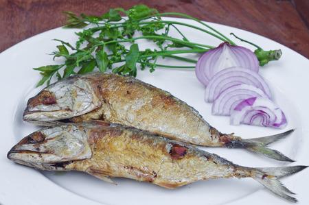 chub: fried chub mackerel