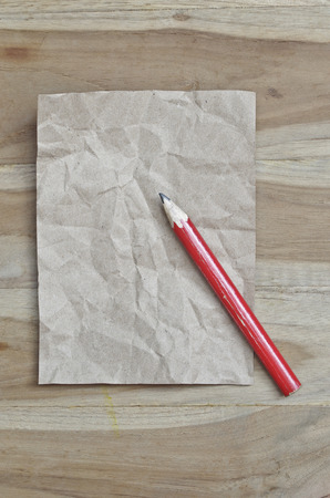 red pencil: red pencil for note