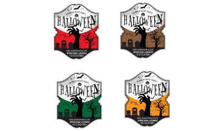 Best Halloween night party  invitation vector background 矢量图像