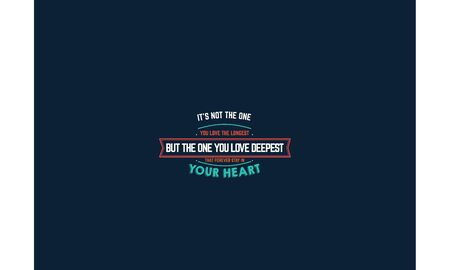 love quote vector background