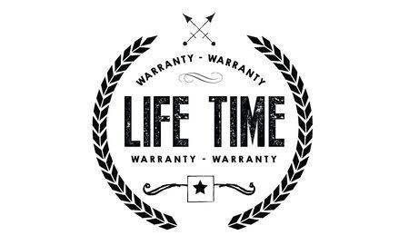 lifetime warranty icon vintage rubber stamp guarantee Illustration