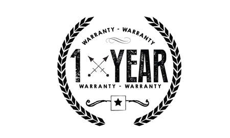 1 year warranty icon vintage rubber stamp guarantee Illustration