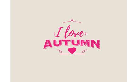I love autumn Illusztráció