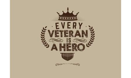 every veteran is a hero vector illustration Vektorové ilustrace