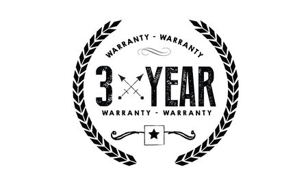 3 years warranty icon vintage rubber stamp guarantee
