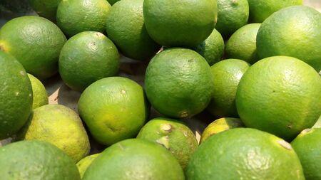 healthy green lemon fruit 写真素材