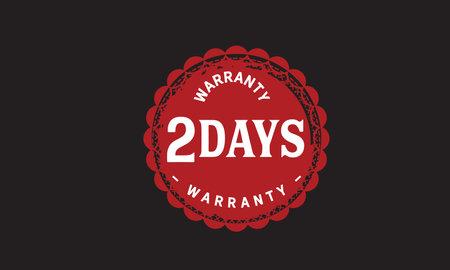 2 Days Warranty with black bakground