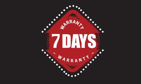 7 Days Warranty with black bakground