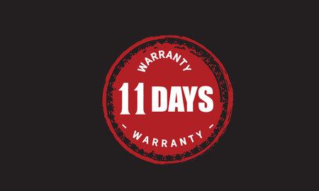 11 Days Warranty with black bakground
