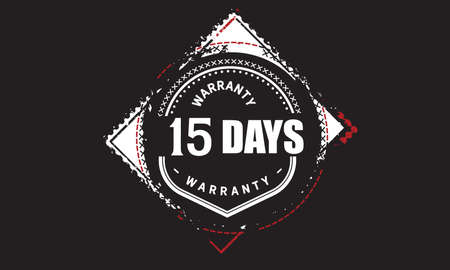 15 Days Warranty with black bakground