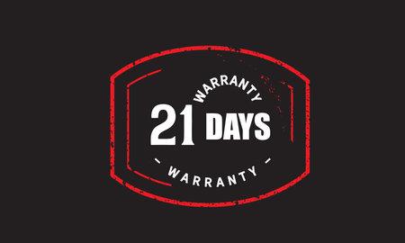 21 Days Warranty with black bakground