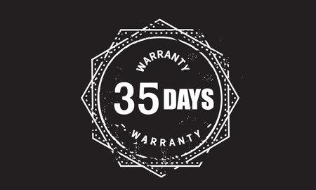 35 Days Warranty with black bakground