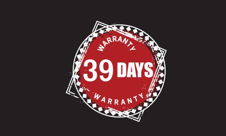 39 Days Warranty with black bakground
