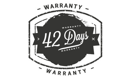 42 days warranty illustration design Banque d'images - 110743038