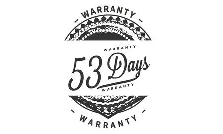 53 days warranty illustration design