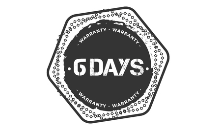6 days warranty illustration