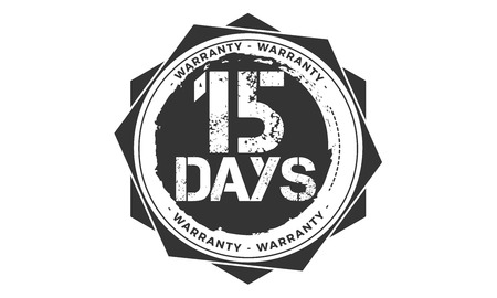 15 days warranty illustration design
