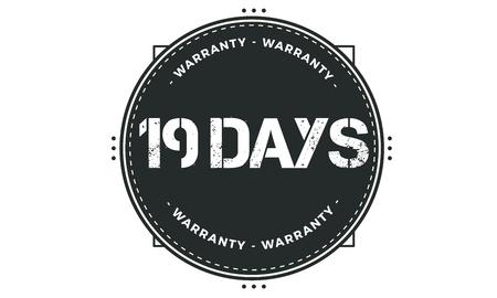 19 days warranty illustration design
