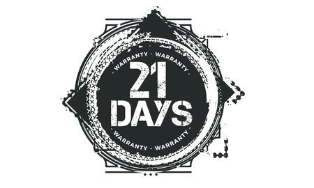 21 days warranty illustration design