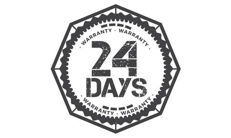 24 days warranty illustration design Vektorové ilustrace