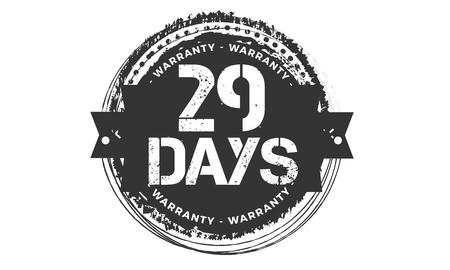 29 days warranty illustration design