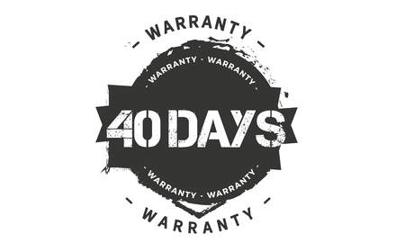 40 days warranty illustration Banque d'images - 110743114