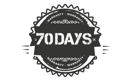 70 days warranty illustration