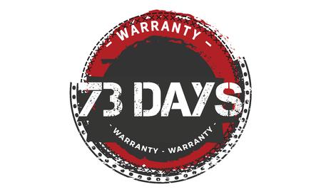73 days warranty illustration design stamp