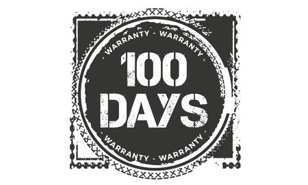 100 days warranty illustration design