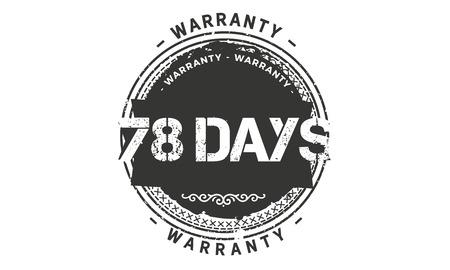 78 days warranty illustration design Banque d'images - 110743070