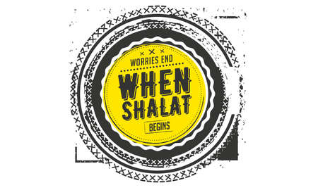 worries end when shalat begins