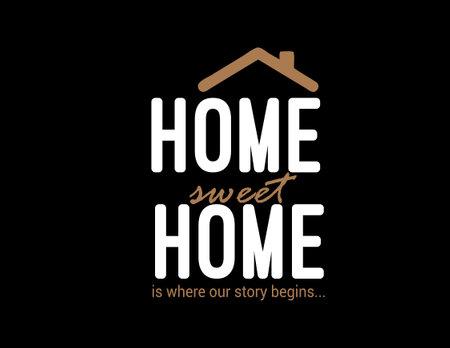 home sweet home is where our story begins.. Ilustração