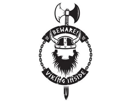 beware viking inside logo