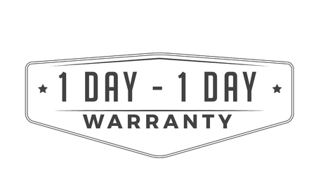 1 day warranty design stamp Illustration